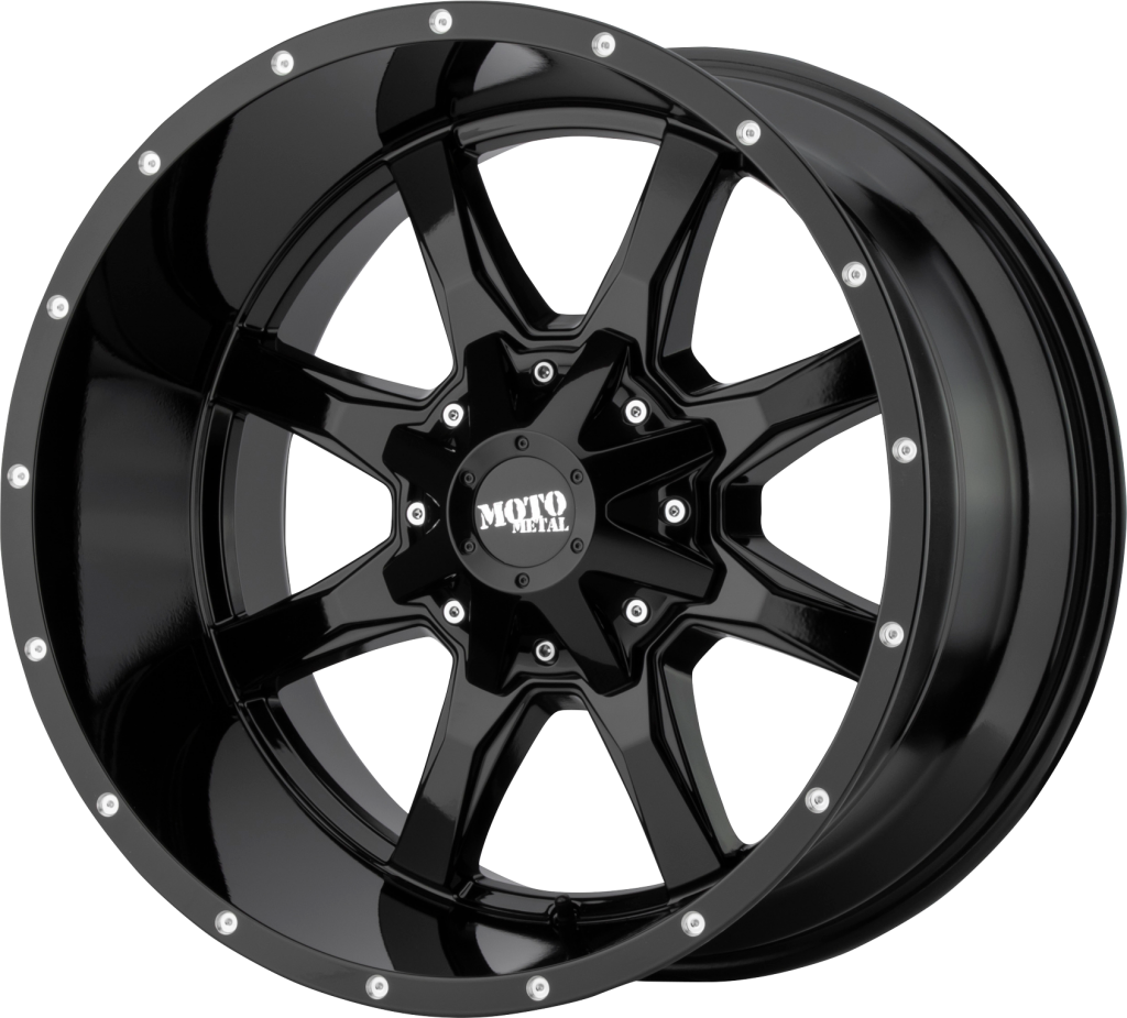 Moto Metal MO970 Semi Gloss Black Wheel Machined with Milled Accents 18x9//8x165.1mm, +18mm offset